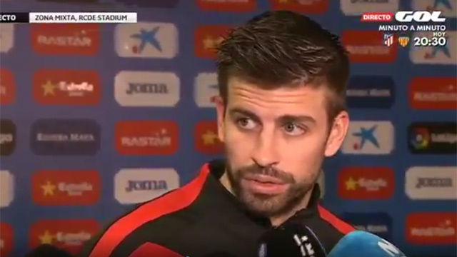 LALIGA | Espanyol-Barça (1-1) | Gerard Pique: Que cada uno saque sus propias conclusiones