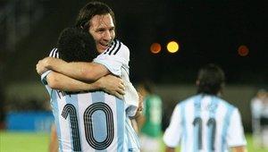 Lionel Messi y Juan Román Riquelme jugaron juntos en la selección de Argentina
