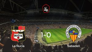 Los tres puntos se quedan en casa tras el triunfo de La Nucía frente al Sabadell (1-0)