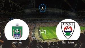 El Lourdes y el San Juan DKE solo suman un punto (1-1)