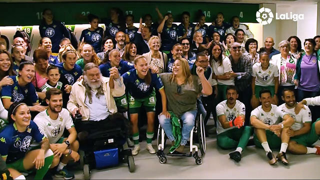 La maravillosa sorpresa de los padres de las jugadoras del Betis antes del derbi