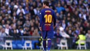 Messi anduvo preocupado durante el Clásico