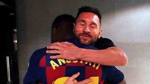 Messi felicitó a Ansu Fati