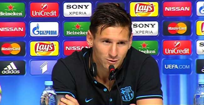 Messi, feliz por el nuevo título de la Supercopa de Europa