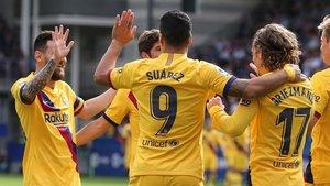 Messi, Suárez y Griezmann, protagonistas destacados en la victoria del FC Barcelona en Eibar (0-3)