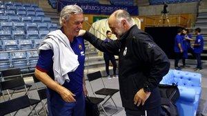 Pesic y Laso disputarán a partir de este sábado la batalla de los banquillos en la final