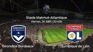 Previa del partido: el Girondins Bordeaux recibe en el Stade Matmut-Atlantique al Olympique Lyonnais