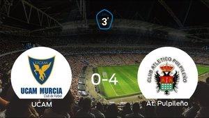 El At. Pulpileño se lleva los tres puntos a casa tras golear al UCAM B (0-4)