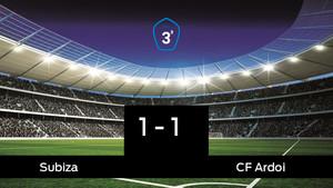 Reparto de puntos entre el Subiza y el CF Ardoi, el marcador final fue 1-1