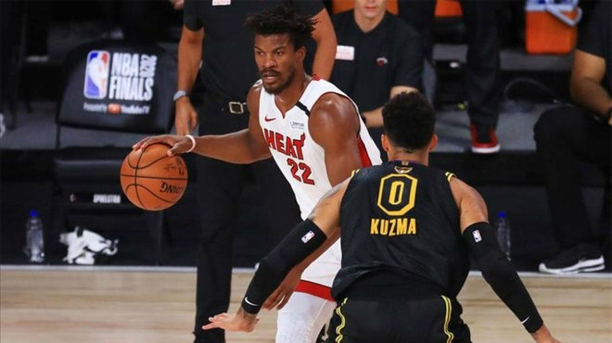 El resumen de la victoria de Miami Heat frente a los Lakers en el quinto partido (111-108)