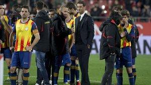 El seleccionador de Catalunya, Gerard López, feliz por el triunfo