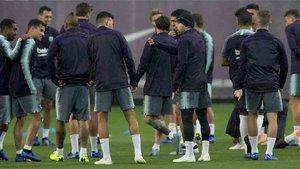 Sergi Roberto ha participado en el entrenamiento del Barcelona