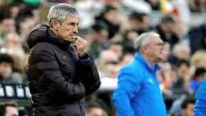 Setién sufrió la primera derrota con el Barça en Mestalla