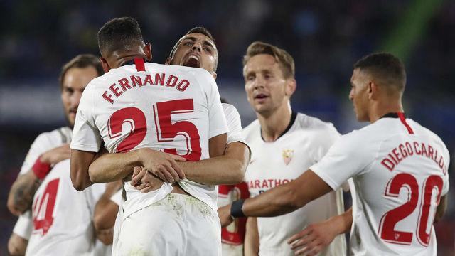 El Sevilla tumba al Getafe y se mete en zona Champions