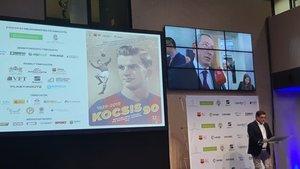 Una imagen del acto de este viernes en Budapest en recuerdo de Kocsis