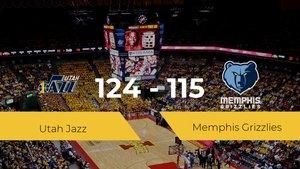 Utah Jazz se queda con la victoria frente a Memphis Grizzlies por 124-115