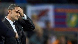 Valverde mostró su preocupación en el partido ante el Slavia