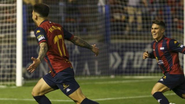 Víctor Pastrana anotó el primer gol contra el Mirandés