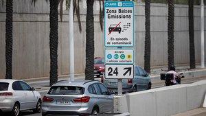 Zona de bajas emisiones de Barcelona