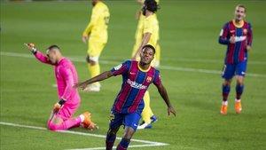 Ansu Fati protagonizó una actuación brillante ante el Villarreal