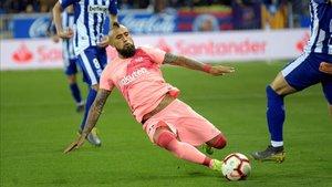 Arturo Vidal, en un lance del partido