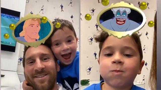 Así se divierte la familia Messi: ¿Qué personajes de Disney son Leo y sus hijos?