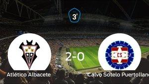 El Atlético Albacete se lleva tres puntos después de vencer 2-0 al Calvo Sotelo Puertollano