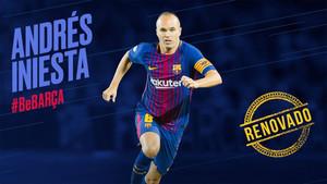 El capitán del FC Barcelona Andrés Iniesta renovó de por vida por el club