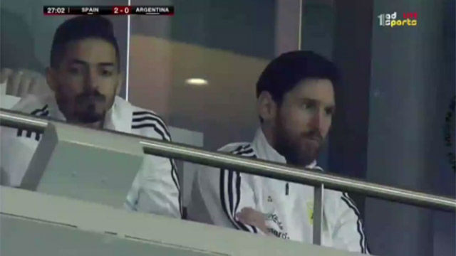 La cara de Messi habla por sí sola