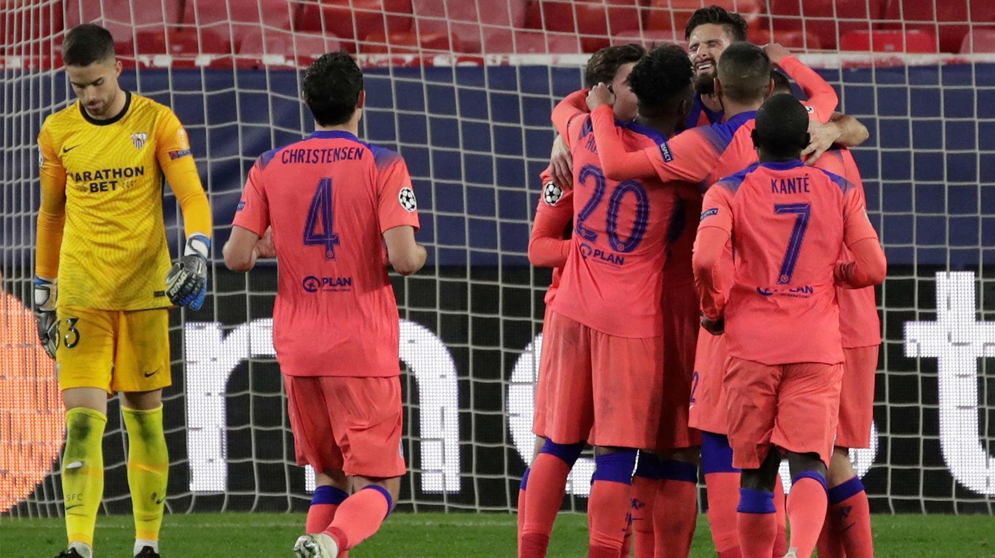 El Chelsea y Giroud se meriendan al Sevilla