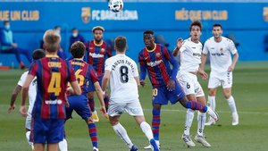 El choque entre Barça B y Nàstic fue competido al máximo