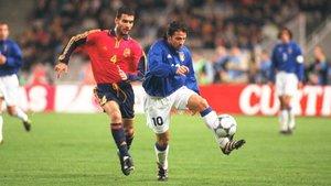 Del Piero y Guardiola se vieron las caras en el terreno de juego