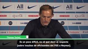 La dividida respuesta de Tuchel sobre los insultos a Neymar