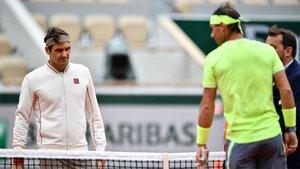 Federer y Nadal se enfrentaron en París la pasada semana