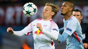 Forsberg anotó el 1-0 para el RB Leipzig