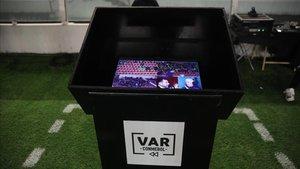 Fotografía de una pantalla del VAR