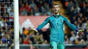 De Gea, enel partido jugado por España ante Noruega