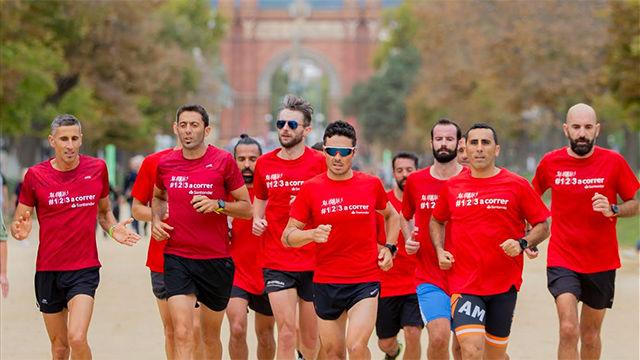 Gómez Noya se prepara para el triatlón de Barcelona