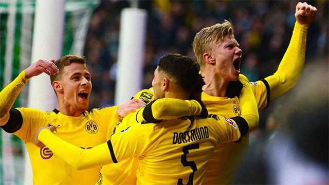 Haaland volvió a marcar con el Borussia