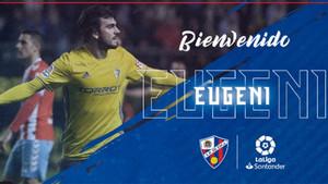 El Huesca hace oficial el fichaje de Eugeni Valderrama