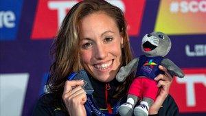 Jessica Vall luce su medalla de plata en Glasgow