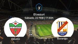 Jornada 26 de la Tercera División: previa del duelo Deusto - SCD Durango