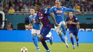 Junior disputó sus primeros minutos frente al Nápoles en pretemporada