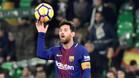 Leo Messi al final del Betis-Barça de la Liga Santander 2017/18