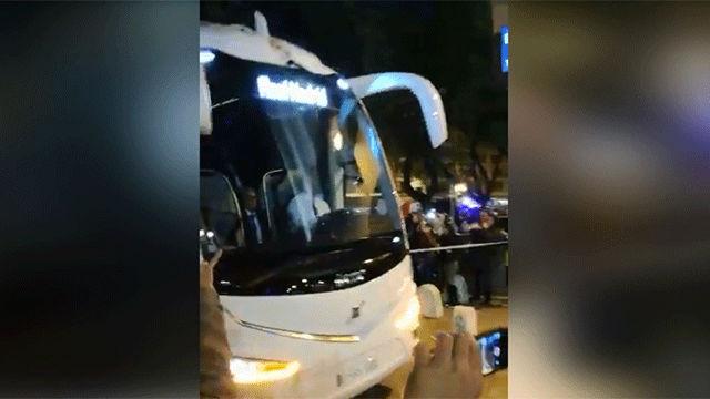Los insultos a Sergio Ramos en su llegada al Sánchez Pizjuán