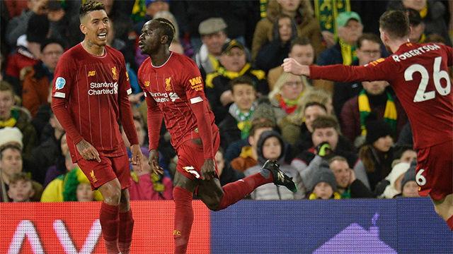 Mané rescató al Liverpool en Norwich