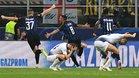 Matías Vecino celebra su gol frente al Tottenham en el minuto 90+2 en el duelo de la Champions 2018/19 del pasado 18 de septiembre