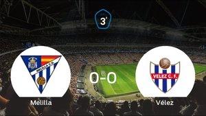 El Melilla CD y el Vélez suman un punto tras empatar a cero