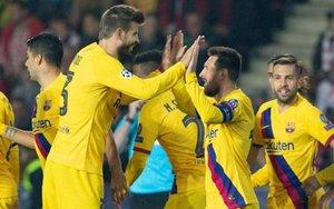 Messi abrió el marcador nada más iniciarse el partido