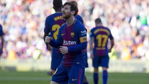 Messi se marcó un pequeño baile tras su gol al Athletic